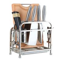 【当当自营】美厨(maxcook)不锈钢置物架刀架砧板架 带挂钩筷子筒 MCD013