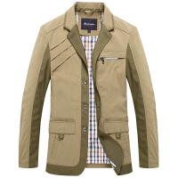 伯思凯夹克秋装新款男外套 商务西装领免烫中长款单排扣男士夹克