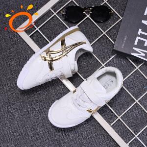 新百伦阿迪 2017春季新款韩版单鞋男女童鞋小白鞋运动鞋
