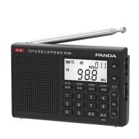 熊猫/PANDA 6130全波段数字立体声收音机英语高考四六级听力 黑色