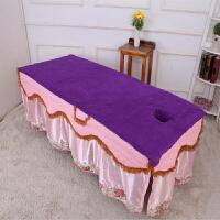 美容院床单足疗店浴巾开洞美容床带洞露头铺床大毛巾