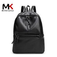 莫尔克(MERKEL)新款女双肩包韩版时尚简约女士背包休闲学院风女书双肩背包书包