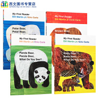 (西文)英文原版Brown Bear,Brown Bear,What Do You See? 棕熊你看到了什么 4册平
