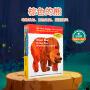 英文原版 Brown Bear,Brown Bear,What Do You See? 棕熊你看到了什么 4册平装套装艾瑞卡尔 Eric Carle 0-3-6岁低幼儿童英语绘本图画书 送海报+音频