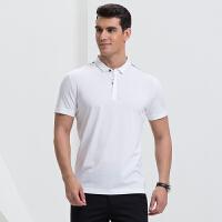 才子男装(TRIES)POLO衫 男士2017年新款纯色翻领简约百搭休闲短袖POLO衫