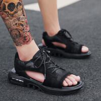 真皮凉鞋男休闲百搭鞋子男士越南沙滩鞋2019夏季外穿系带韩版男鞋
