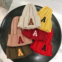 韩国男士冬季帽子女 潮韩版百搭毛线帽黑色加厚保暖针织帽秋冬帽