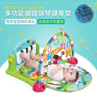 新生婴儿健身架脚踏钢琴玩具宝宝游戏毯3-6-12个月