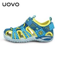 UOVO 新款儿童凉鞋夏季包头沙滩鞋小大童男童鞋女童鞋潮包头凉鞋塔希提A