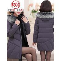 妈妈冬装棉衣女中长款中老年女装棉袄40岁50保暖加厚羽绒外套