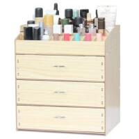 化妆品收纳盒整理架饰品盒创意抽屉式木制大号桌面收纳盒