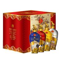 52度五粮液股份有限公司戊戌狗年生肖纪念酒 500ml*4瓶白酒礼盒浓香型