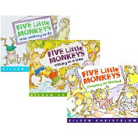 Five Little Monkeys系列 五只小猴子 英文原版 平装绘本 3本套装 廖彩杏书单