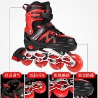 溜冰鞋儿童全套装旱冰轮滑鞋男童女童初学者中大童小孩可调