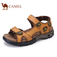 骆驼牌 男鞋 新品户外休闲鞋露趾男士魔术贴耐磨凉鞋男