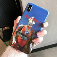 个性创意奥特曼s/max/xr手机壳6splus苹果7/8plus磨砂潮男 7p/8p 奥特曼