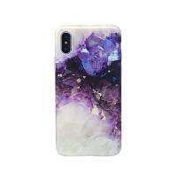 紫色水晶8plus苹果x手机壳7plus女款iphoneXs Max保护套XS/XR硅胶 iPhoneXs Max 紫