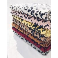 豹纹围巾女冬季毛线针织东大门学生秋冬保暖