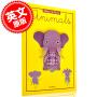 现货 制作与活动:动物 英文原版  儿童手工书 3D立体纸模 科普益智 Make and Move: Animals: 12 Paper Puppets