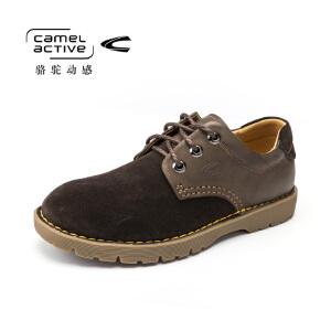 Camel Active/骆驼动感牛皮流行男鞋板鞋男真皮个性英伦休闲皮鞋