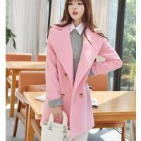 外套女 西装女 新款韩版修身显瘦中长款毛呢外套学生学院风加厚呢子大衣