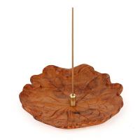 香道香座香拖香炉 实木木质 红木工艺品荷叶香插茶艺熏香香盘