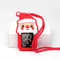 苹果手表iwatch3/4保护套2/1代apple watch配件硅胶保护软壳全包运动吊坠项链44m 红色圣诞老人 4