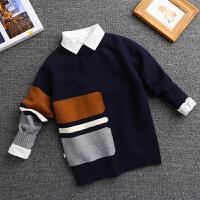童装男童毛衣套头秋冬装儿童男孩打底针织衫潮中大童