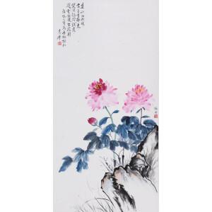 建筑师、诗人、作家、教师 林徽因(徐志摩题)《牡丹》