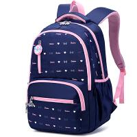 学生书包女生双肩包大容量护脊减负轻便儿童背包