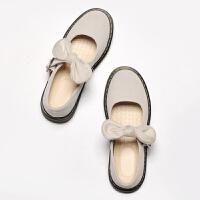 春夏款浅口单鞋洛丽塔英伦学生可爱平底系带休闲女鞋学院风小皮鞋