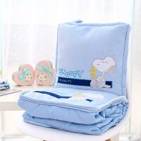 折叠抱枕被子两用女加绒加厚大号汽车靠垫靠枕办公室纯棉空调被子