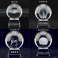 毕业礼品情人节创意蒲公英水晶球旋转音乐盒DIY定制照片logo刻字