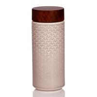 新品乾唐轩活瓷杯心有灵犀随身杯双层350ml 陶瓷随手杯水杯