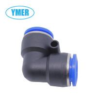 YMER塑料PU PE软管90度气管接头 L型二通直角弯头 PV快速插接 头 气动元件 PV L型二通弯头PVΦ10