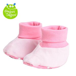 【加拿大童装】Gagou Tagou新生儿纯棉净色婴儿袜套护脚套棉袜