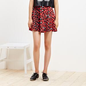 【2件2.5折到手价:8.75】美特斯邦威女装新面料伞型半裙25161