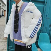 棉衣男冬季韩版潮流学生宽松bf面包服网红同款ins满分的外套