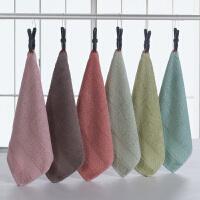 3条装简约棉擦手巾吸水挂式儿童毛巾厨房卫生间抹手小方巾擦手布