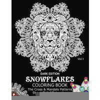 【预订】Snowflake Coloring Book Dark Edition Vol.1: The Cross &