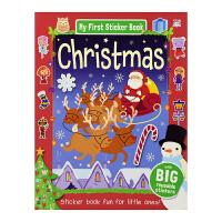 【首页抢券300-100】My First Sticker Book Christmas 我的圣诞场景贴纸书 英文原版