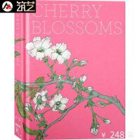 CHERRY BLOSSOMS 英文原版 樱花绽放 日本传统樱花艺术画册 日式风格画 书籍