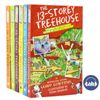 The 13 26 39 52 65 78 Storey Treehouse 13-78层小屁孩疯狂树屋历险记 儿童初级读物冒险章节书 英文原版图书故事书