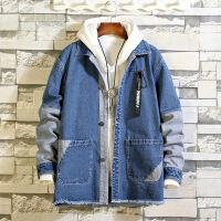 2018新款春秋季男士牛仔外套韩版潮流休闲夹克男加绒冬季衣服加厚 JK6635深蓝 S