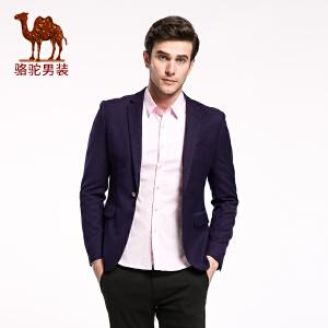骆驼&熊猫联名系列男装西装 时尚青年休闲长袖便西潮男西服外套