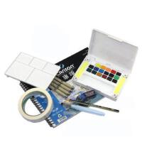 樱花24色固体水彩颜料/泰伦斯写生固体水彩颜料/18色水彩初学套装 24色套装