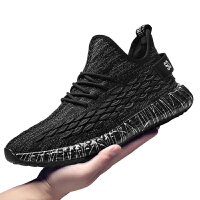 夏季2019新款运动鞋飞织透气黑色鞋子百搭潮休闲鞋跑步鞋男户外鞋夏季百搭鞋