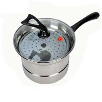 家用22cm蒸锅不锈钢多功能油炸锅汤锅蒸锅电磁炉通用