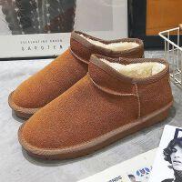 【加绒加厚 冬季潮款】韩版防滑平底短筒靴学生低帮棉鞋女雪地靴