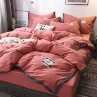 网红床上四件套全棉纯棉ins风床单被套宿舍三件套4床笠简约用品新品【】